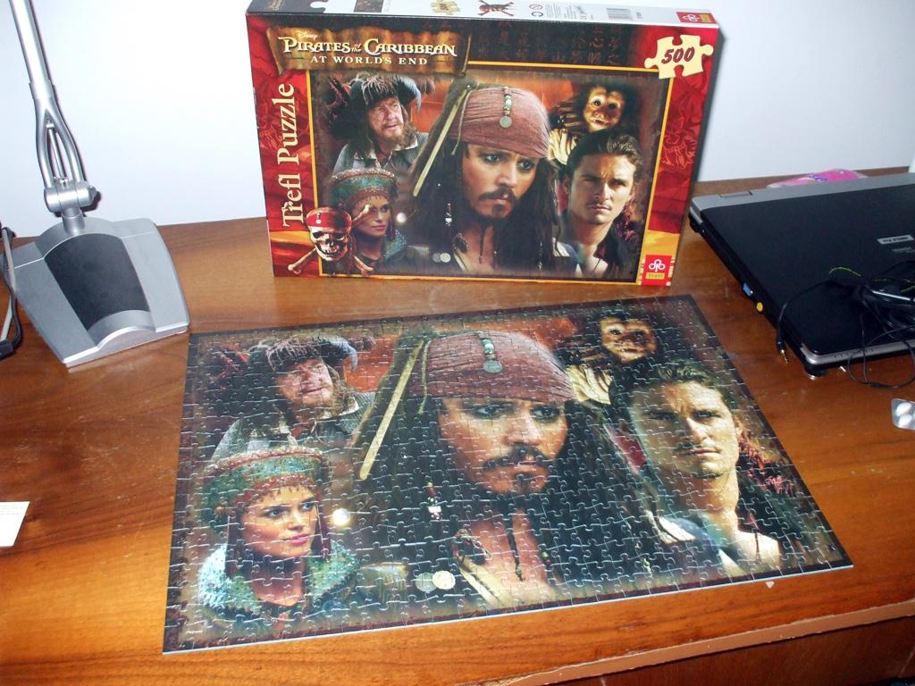 Cum se face un puzzle de 500 de piese.