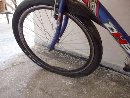pana la roata de bicicleta