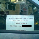 Ce sa faci cand blochezi pe cineva cu masina