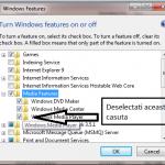 Cum se dezinstaleaza Windows Media Player (windows 7)